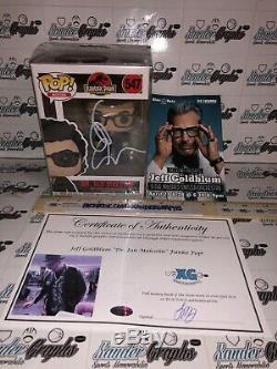 Jeff Goldblum Signed Autographed Funko Pop Vinyl Jurassic Park Ian Malcolm-coa