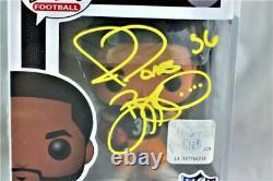 Jerome Bettis Signed Steelers Funko Pop Figurine Beckett W Auth Yellow