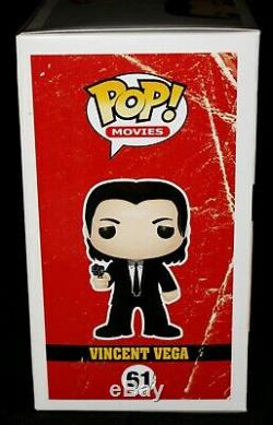 John Travolta Signed Vincent Vega Pulp Fiction Autograph Funko POP PSA JSA