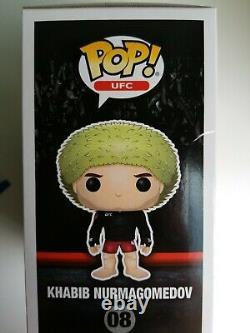 KHABIB NURMAGOMEDOV UFC SIGNED Auto FUNKO POP VINYL Beckett BGS Certified COA