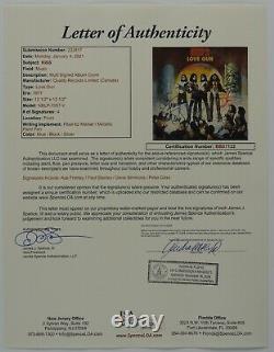 KISS JSA Signed Autograph Love Gun Album Vinyl Paul Stanley Gene Simmons +