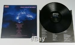 KISS Signed Autograph Creatures Of The Night Album Vinyl LP x5 Paul Stanley +