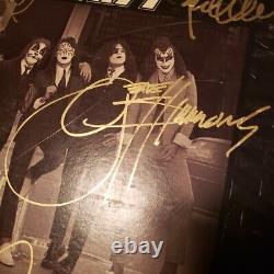 KISS signed vinyl album DRESSED TO KILL GENE PETER PAUL ACE