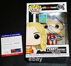 Kaley Cuoco Signed Penny Wonder Woman Big Bang Theory Funko POP PSA JSA