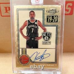 Kevin Durant 1/1 ONE OF ONE! On card Auto! 2019-20 Optic Contenders Gold Vinyl