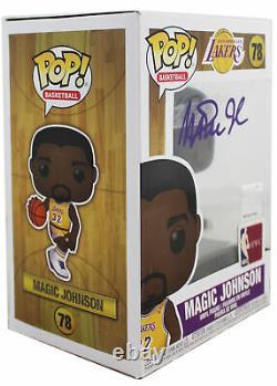 Lakers Magic Johnson Signed NBA HWC #78 Funko Pop Vinyl Figure with Purple Sig BAS