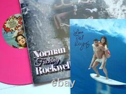 Lana Del Rey Norman Fcking Rockwell Ltd Double Pink Vinyl & Signed Card