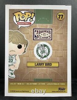 Larry Bird Signed Funko Pop #77 NBA Vinyl Action Figure Celtics Autograph JSA