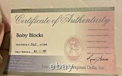 Lee Middleton Original 20 BABY BLOCKS SIGNED REVA DOLL