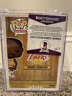 MAGIC JOHNSON Signed/Autograph Funko POP NBA HWC 78 HOF Beckett COA WHITE INK