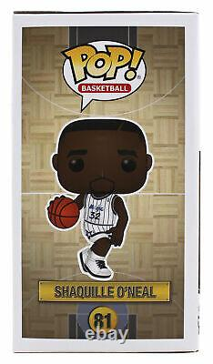 Magic Shaquille O'Neal Signed NBA HWC Funko Pop Vinyl Figure with White Sig BAS