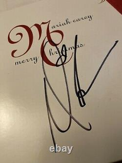 Mariah Carey Signed Autographed Merry Christmas Vinyl LP Record Proof