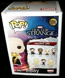 Marvel Tilda Swinton Autographed Ancient One Signed Doctor Strange Funko POP PSA