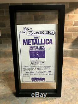 Metallica Signed flyer by Cliff Burton & Kirk Hammett Record/Vinyl/Memorabilia