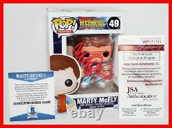 Michael J Fox Signed Marty McFly Back To The Future 49 Funko POP JSA Beckett