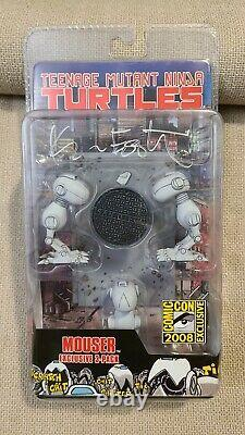 NECA 2008 SDCC Exclusive TMNT Mouser Set SIGNED BY KEVIN EASTMAN RARE