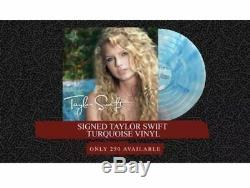 New Taylor Swift Signed LP Turquoise Vinyl Record Store Day RSD Sold Out Sealed