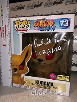 Peter St Paul Signed Autographed Naruto Kurama 6 Flocked Ht Funko Pop Vinyl