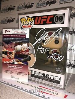 Pick 1 GEORGES ST. PIERRE MMA UFC SIGNED AUTOGRAPHED FUNKO POP-JSA COA GSP RUSH