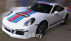 Porsche 991 or 997 Martini Le Mans Racing Stripe Decal Kit, GT2 GT3 Cup Car GT