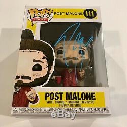 Post Malone Autographed Signed Pop Funko Rocks Vinyl 111 Rockstar Stoney Jsa Coa