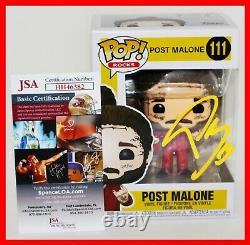 Post Malone Signed Autographed 111 Funko POP Beerbongs Bentleys JSA PSA BSA