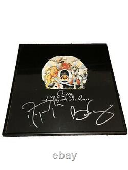 Queen Signed Autograph Framed Day At The Races Vinyl Brian May Roger Taylor Coa