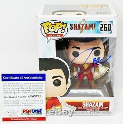 RARE Zachary Levi Signed Autographed Shazam! Shazam Funko POP PSA JSA BSA