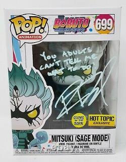 Robbie Daymond signed Funko Pop Figure Mitsuki Sage Mode Boruto Naruto Beckett