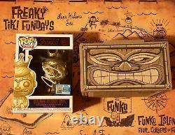 SDCC 2019 Freaky Tiki Funko Fundays Pop! Golden Freddy Idol LE1600 SIGNED RARE