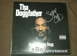 SNOOP DOGG SIGNED AUTOGRAPHED THA DOGGFATHER ALBUM VINYL LP DR. DRE TUPAC withCOA