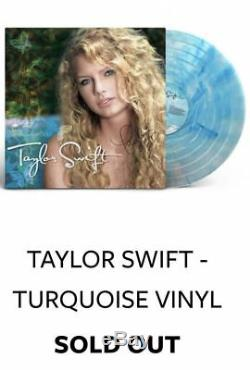 Signed Autograph Taylor Swift Turquoise Vinyl LP Debut Album In Stock