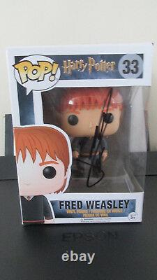 Signed JAMES PHELPS Fred Weasley Harry Potter Funko Pop Figure withExact Proof/COA