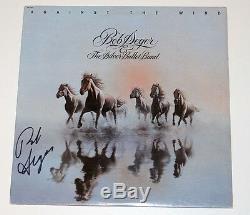 Singer Bob Seger Signed Authentic Against The Wind Vinyl Record Album Coa Proof