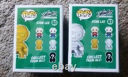 Stan Lee Funko Lot (Convention Exclusive 01 Signed, Gold and Silver Exclusive)