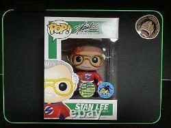 Stan Lee Signed Funko Pop Vinyl Comikaze Marvel Autograph With COA Sticker Mint