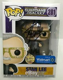 Stan Lee Signed Walmart Exclusive Guardians Of The Galaxy Funko Pop #281 BAS
