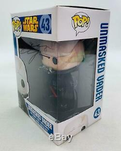 Star Wars Darth Vader Unmasked Funko POP Autographed by Hayden Christensen