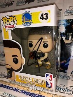 Stephen Curry Golden State Warriors Signed Funko Pop Steph-beckett Bas Coa
