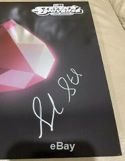 Steven Universe The Movie Aqua Opaque Vinyl Signed By Sarah Stiles (Spinel)