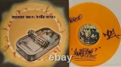 THE BEASTIE BOYS Signed Autograph LP Cover Rare Yellow Vinyl Record JSA LOA