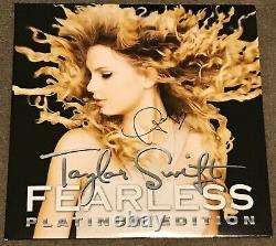 Taylor Swift HAND Signed Fearless Platinum Edition Vinyl Autograph 2x Gold RSD