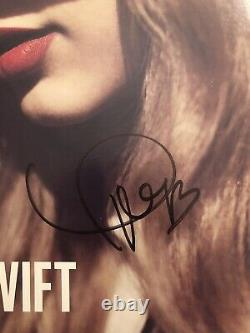 Taylor Swift Signed Red Vinyl Signed Authentic Autograph RARE