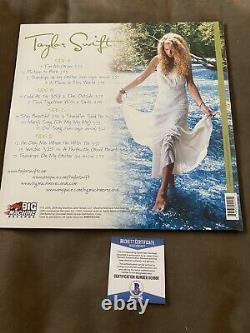 Taylor Swift Signed Self Titled Album Vinyl Record Beckett COA