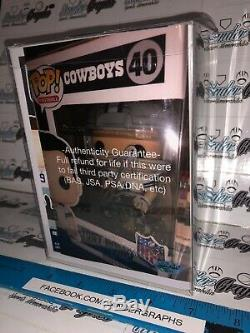 Tony Romo Dallas Cowboys Signed Autographed Funko Pop Vaulted-beckett Bas Coa