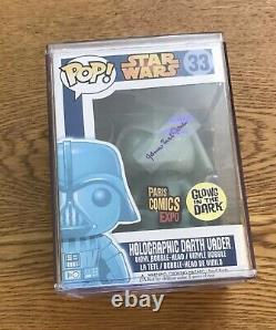 Topps COA James Earl Jones signed Holographic Darth Vader 33 Star Wars Funko Pop
