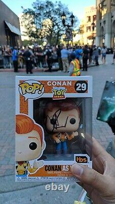Toy Story Woody Conan FUNKO PoP! SDCC 2019 ready to ship! Pop Signed by Conan