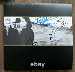 U2 band Signed Autograph The Joshua Tree Vinyl Record Album BECKETT COA psa
