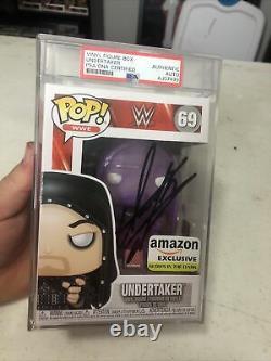 Undertaker Signed Funko Pop PSA Amazon Exclusive GITD Glow Autograph Black WWE