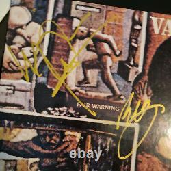 VAN HALEN signed vinyl album FAIR WARNING 1981 EDDIE DAVID ALEX MICHAEL